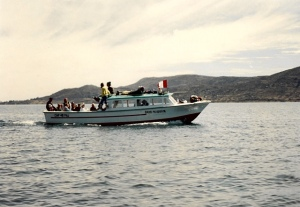 boat at lake titicaca