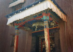 Notice the dead wolf above the door. This was where the woman in our group was mentally attacked by mind and nearly died. This kind of black magic is taught at these type monasteries in southern Tibet. Hitler actually had monks like these on his staff.